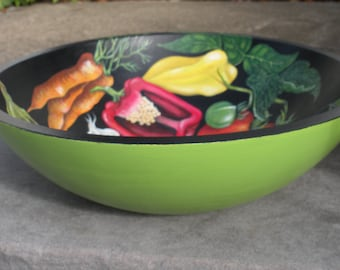 Hand Painted Bowl - Vegetables