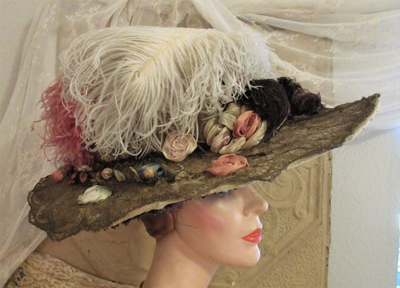 BEAUTIFUL French Edwardian Hat, c1910-15