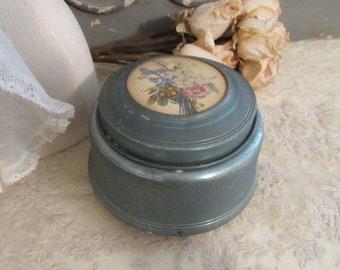Musical Powder Box, c1930;Vintage Music Box