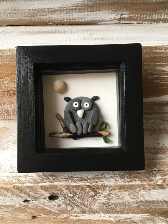 Owl Pebble Picture .