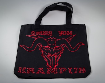 Custom Black Tote Bag with Lettering