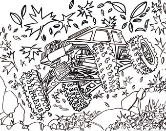 This is a graphic of Gutsy rc car coloring pages