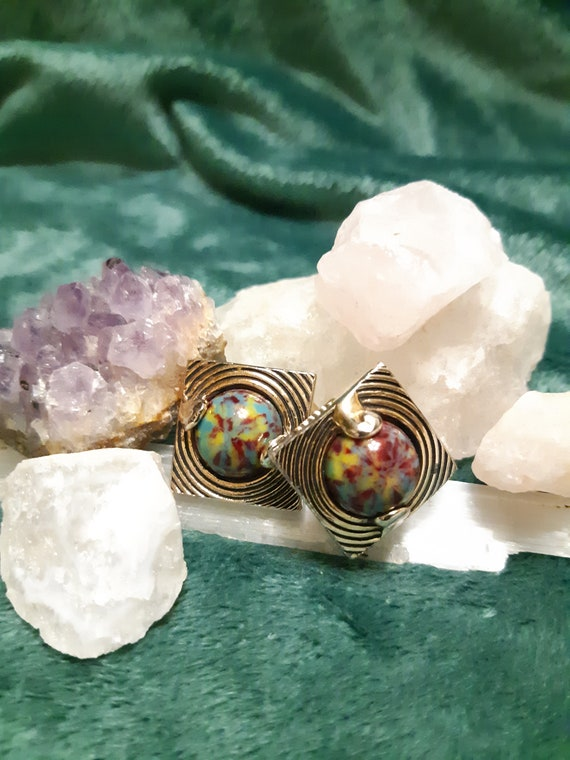 Tie-Dye Cufflinks || Vintage Accessories  || The B