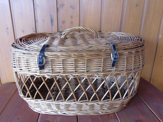 Vintage Wicker Children's Suitcase Basket...Picnic