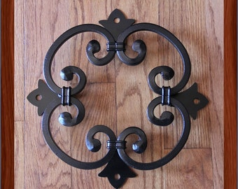 Wood Gate Door Cast Iron Grape Vine Window Insert Vineyard