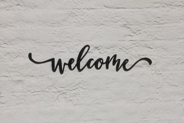 Welcome Sign Welcome Word Wall Art Metal Wall Art Decor | Etsy