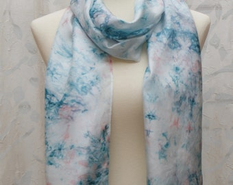 Hand Dyed Silk Scarf- Long