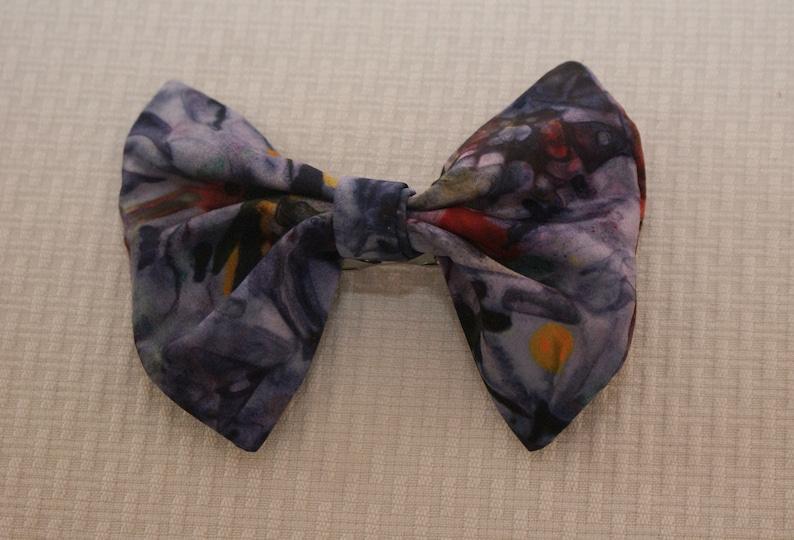 Hand dyed habotai silk Handmade Silk Clip On Bow Tie