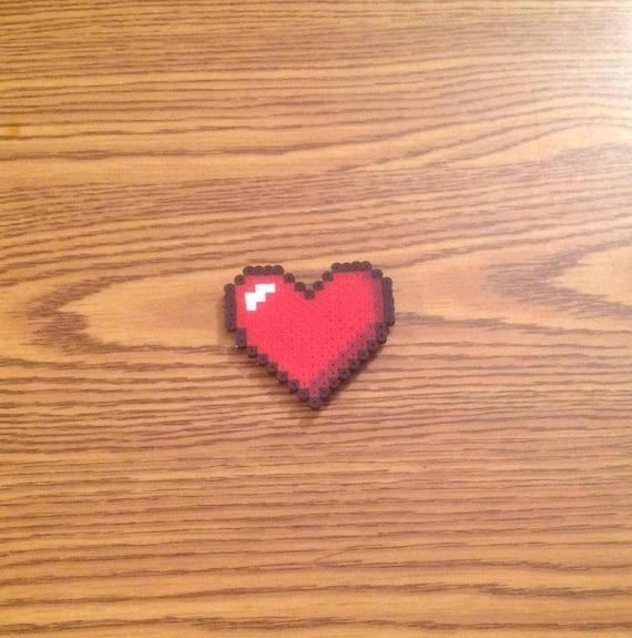 Red Heart Fridge Magnet Handmade Pixel Art Geeky Nerdy Home Decor Cute Gift For Girlfriend Boyfriend Love Valentines Day Zelda