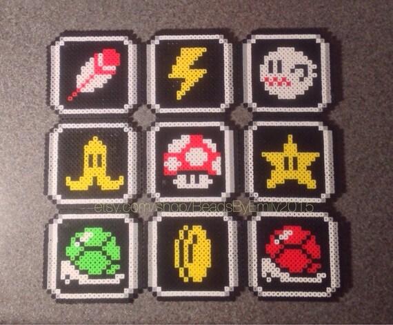 Mario Kart Magnets Super Nintendo Retro Pixel Art Video Game Fan Art Nerdy Geeky Home Decor Snes Fridgelocker Magnets