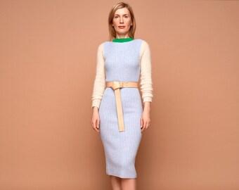knit dress, light blue, grey, cream, green, SABRINA WEIGT, knitwear, merino, mohair, knitted dress, rib dress, berlin fashion,design,germany