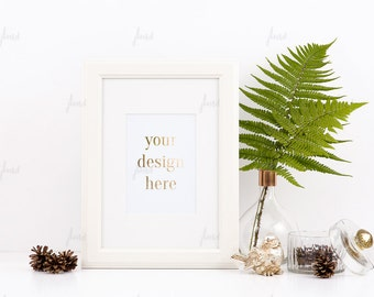 Download Free Styled Stock Photography - White Styled Frame - Print Display - Frame Mockup - 0002 PSD Template