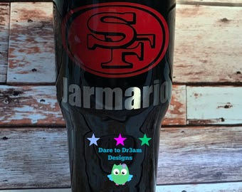 San Francisco 49ers Personalized Tumbler