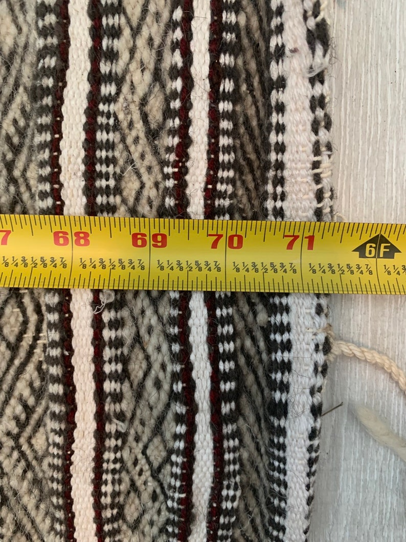 Moroccan Handmade Wool Accent Runner