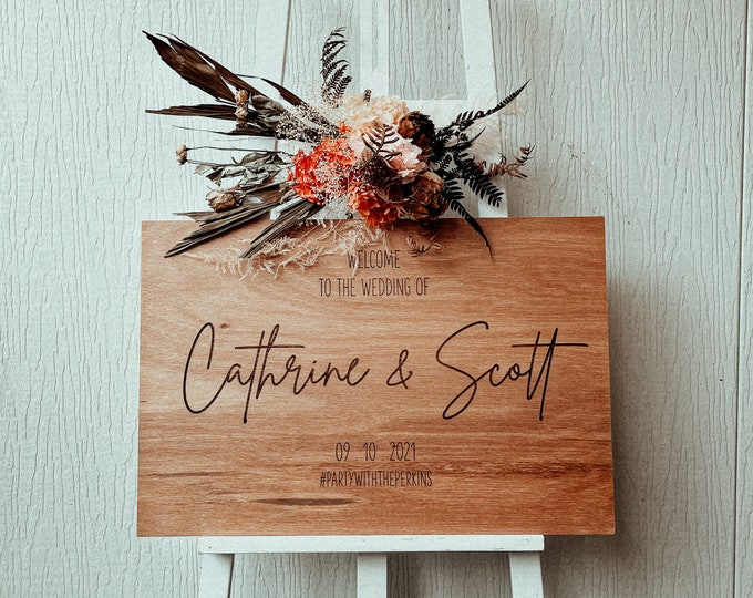 Wedding Welcome Sign | Wood | Rustic | Decor | Engagement