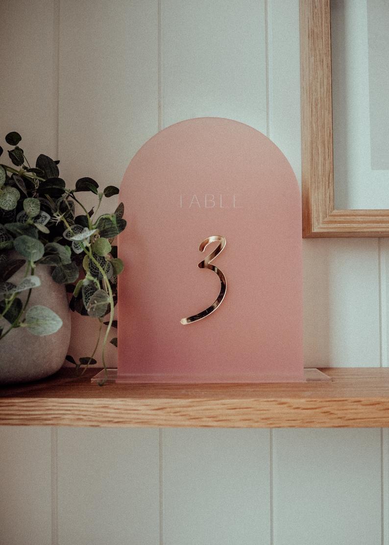 Wedding Table Numbers  Acrylic image 0