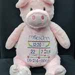 PERSONALIZED Stuffed Animal Birth Announcement -  CHOICE of CUBBIES - Custom Designs, Baby Shower!