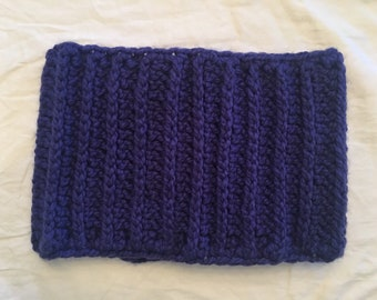 Cobalt Blue Chunky Knit Oversized Cowl READY TO SHIP