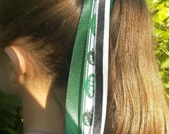 Team Colors Ribbon Ponytail Holder Made with New York Jets Grosgrain Ribbon d0ecd57035f