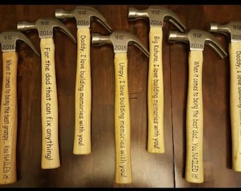Personalized Hammer, Father's Valentine's gift, Father of the Bride gift, Dad Keepsake, DAD, Christmas, Grandpa gift, DAD Bday, Gift for dad