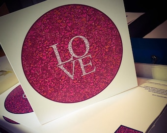 LOVE cards (red background)