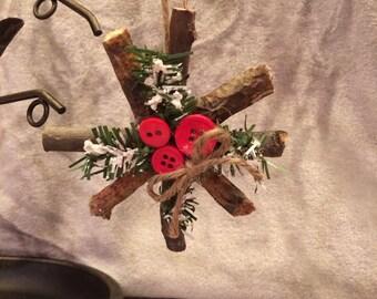 Handmade Mini Twig Wreath Ornaments