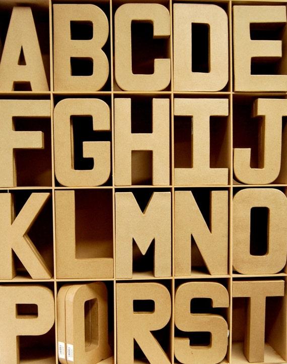 3D Papier Pappmache große Buchstaben 20,5 cm - Karton Handwerk