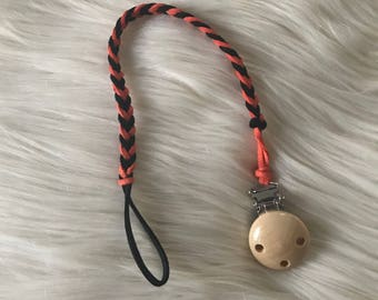 Braided Suede Pacifier Clips