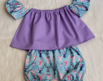 Oh deer Flutter Top & Bubble shorts