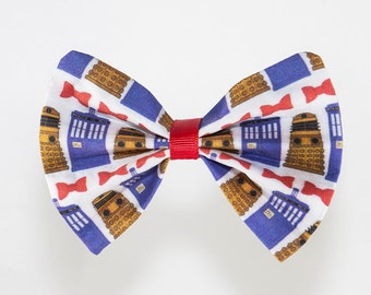 Dr Who Hair Bow / Bow Tie