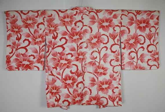 of Fine quality haori jacket Japanese vintage beautiful silk hand shibori Tie-dye