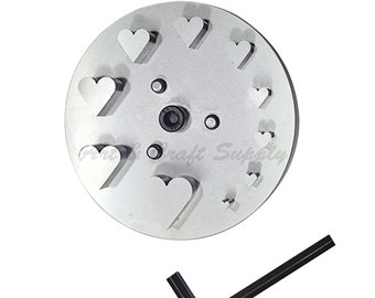 Heart Disc Cutter Set of 10 | 4mm to 31mm | Disk Cutter | Jewelry dies | Metal cutters | Jewelry tools | Dapping tools | Sheet cutting