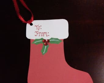Christmas Stocking Gift Tags