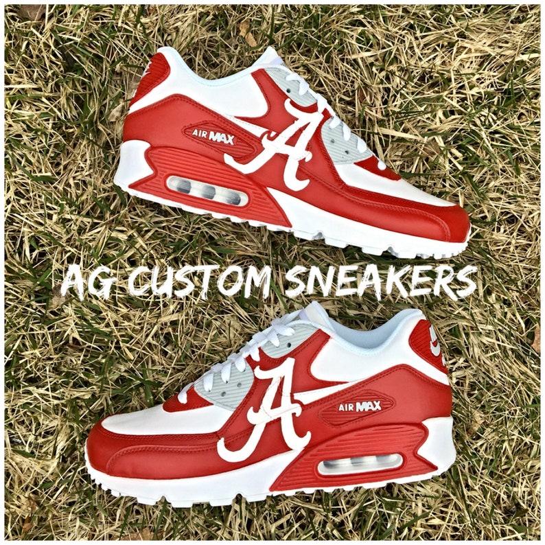 98e3111f8826 Custom Alabama Crimson Tide Air Max Sneakers Crimson