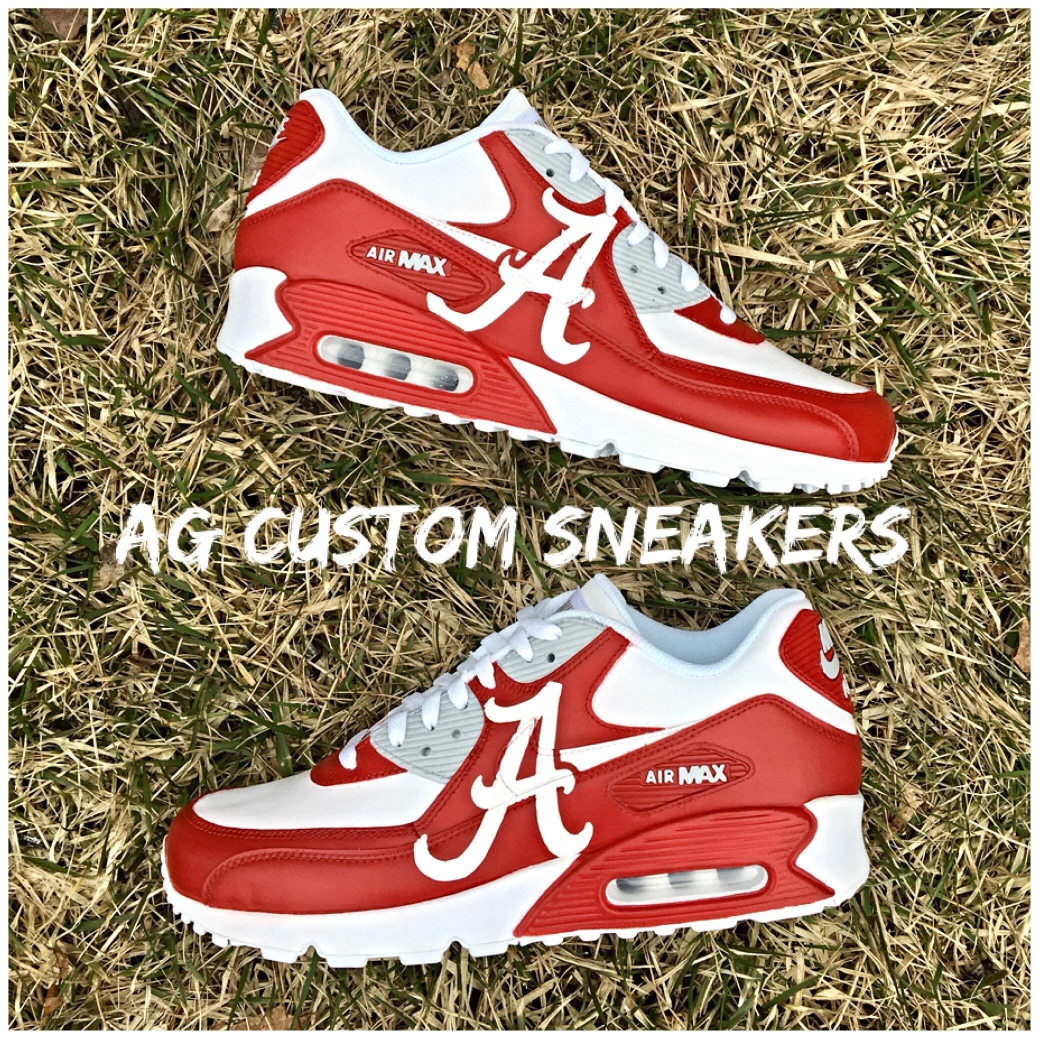 adacf05be Custom Alabama Crimson Tide Air Max Sneakers Crimson