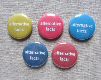 Alternative Facts 5-pack political button badges