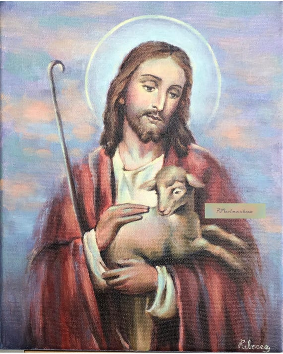 100 Handmade Small Oil Painting Jesus The Good Etsy