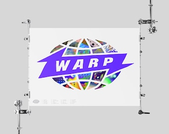 Warp Records Poster Aphex Twin Poster Boards of Canada Flying Lotus Squarepusher LFO Mark Pritchard Mount Kimbie Autechre Jamie Lidell