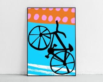 Bike Poster Bike Print Bicycle Wall Art Bicycle Art Print Bike Giclee Print Fixie Poster Bikes Poster