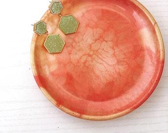 Handmade resin jewelry dish