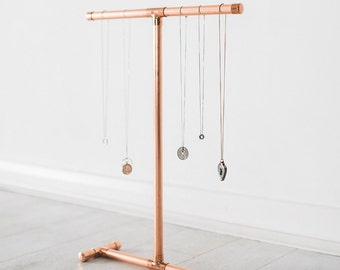 Copper Pipe Jewellery Stand for Necklaces