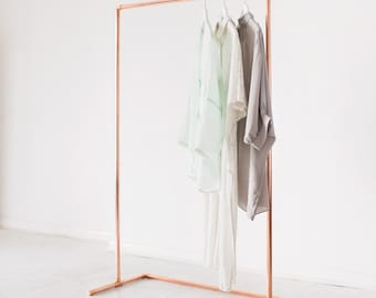 Minimal Copper Pipe Clothing Rail / Garment Rack / Clothes Storage / Retail Display