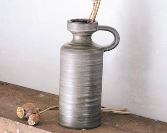 Stoneware Vase with Handle
