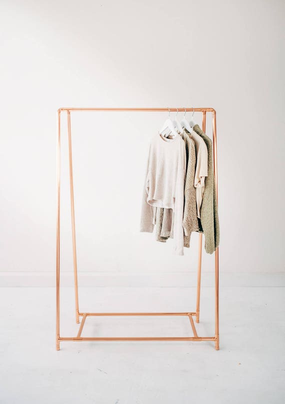 Copper Pipe A Frame Clothing Rail / Garment Rack / Clothes | Etsy