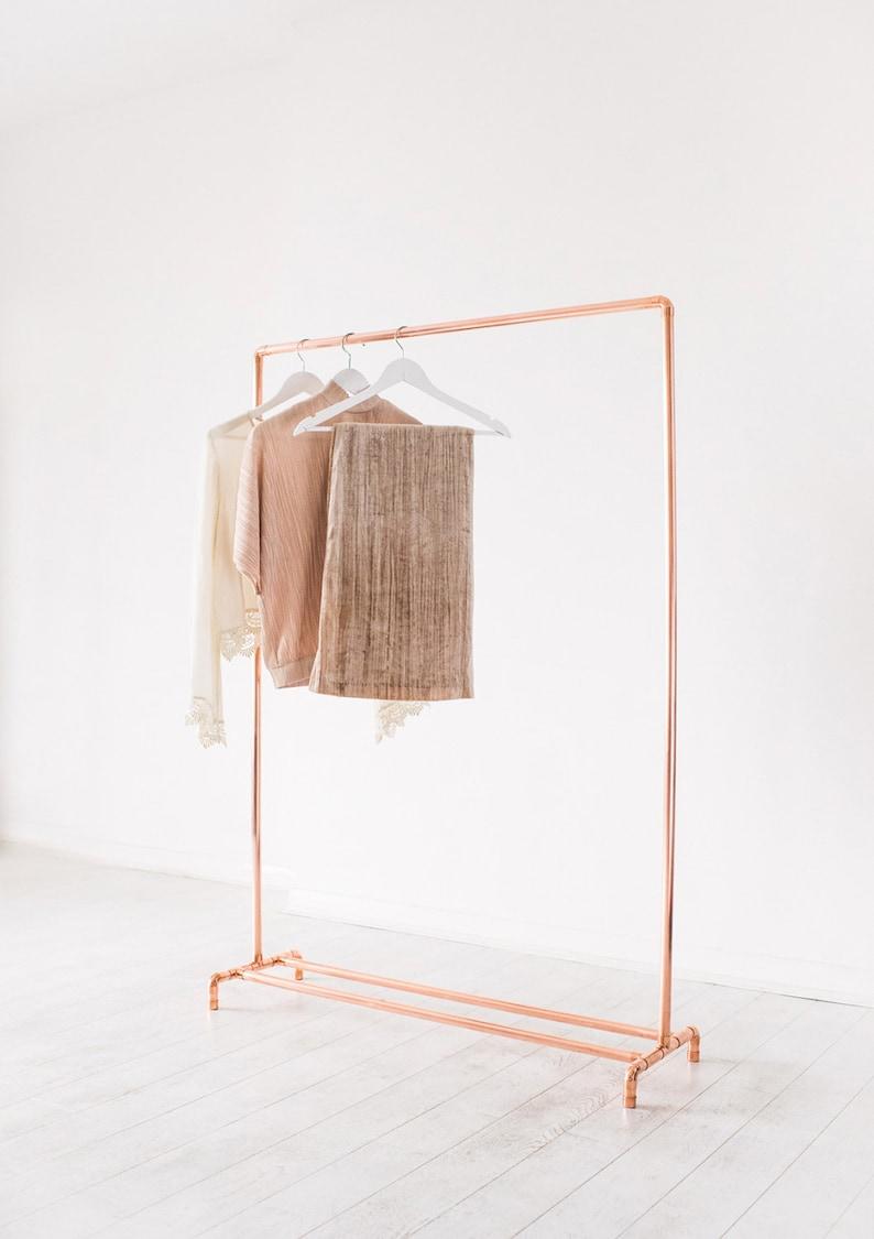 Original Copper Pipe Clothing Rail / Garment Rack / Clothes image 0
