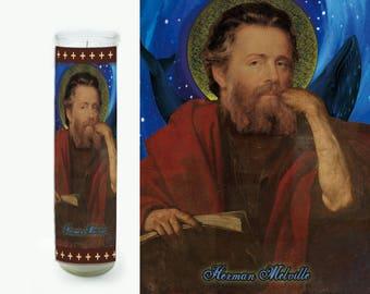Herman Melville Prayer Candle - Herman Melville Saint Candle - Herman Melville Fan Art - Literary Gift