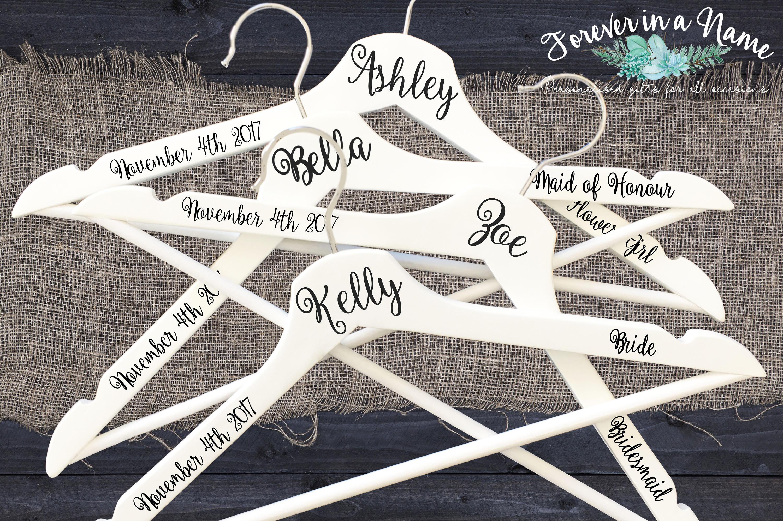 Personalisierte Hochzeit Kleiderbügel Braut Trauzeugin