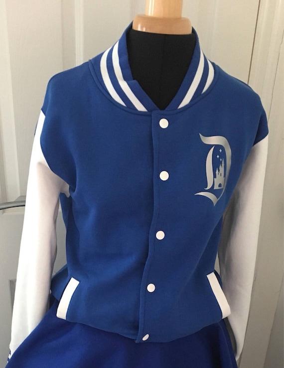 Disneyland inspired varsity jacket in silver and blue disneyland paris 25th anniversary unisex PcfyIOu
