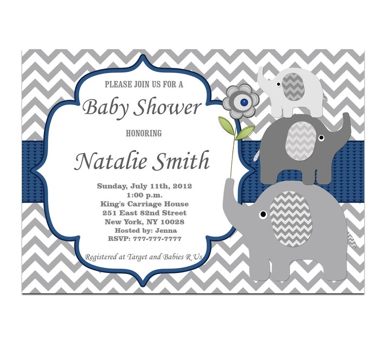 photo regarding Printable Baby Boy Shower Invitations titled Boy Boy or girl Shower Invites Elephant Printable Youngster Shower Invite Boy  Blue Boy or girl Boy Shower Immediate Down load Editable Template (06)