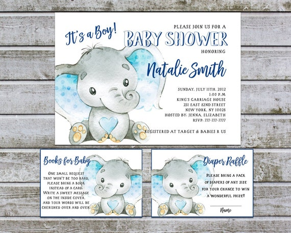 KokoPaperCo It/â/€s A Boy Nautical Baby Shower Invitations with Tear-Off Diaper Raffle Tickets 25 5x7 Fill in The Blank Style Invites with White A7 Envelopes.